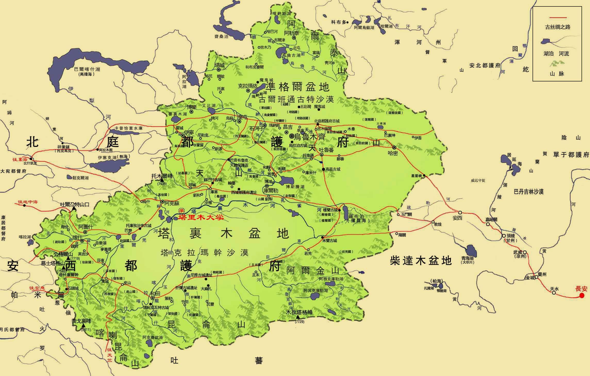 唐朝北漠地图